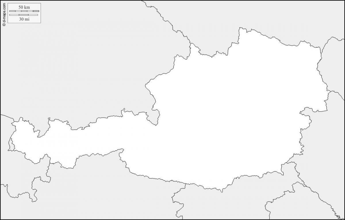 Austria Harta Contur Harta Austria Harta Contur Europa De Vest