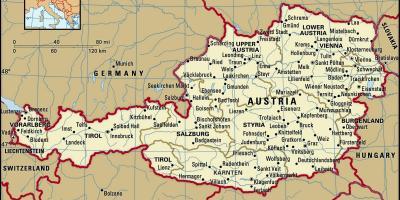 Austria Hartă Hărți Austria Europa De Vest Europa